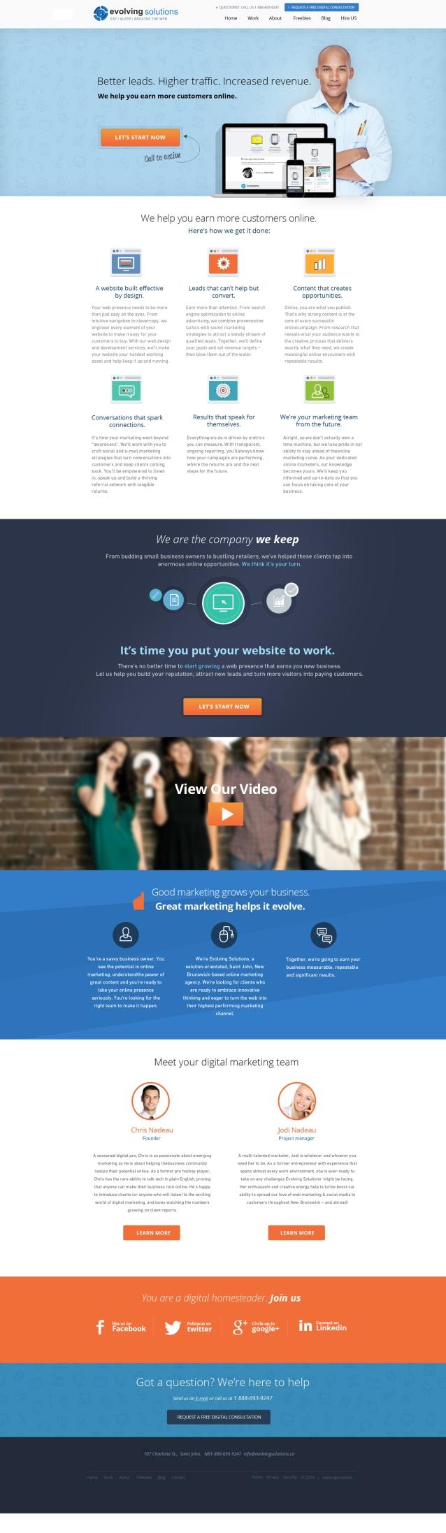Evolving Solutions New Design #3